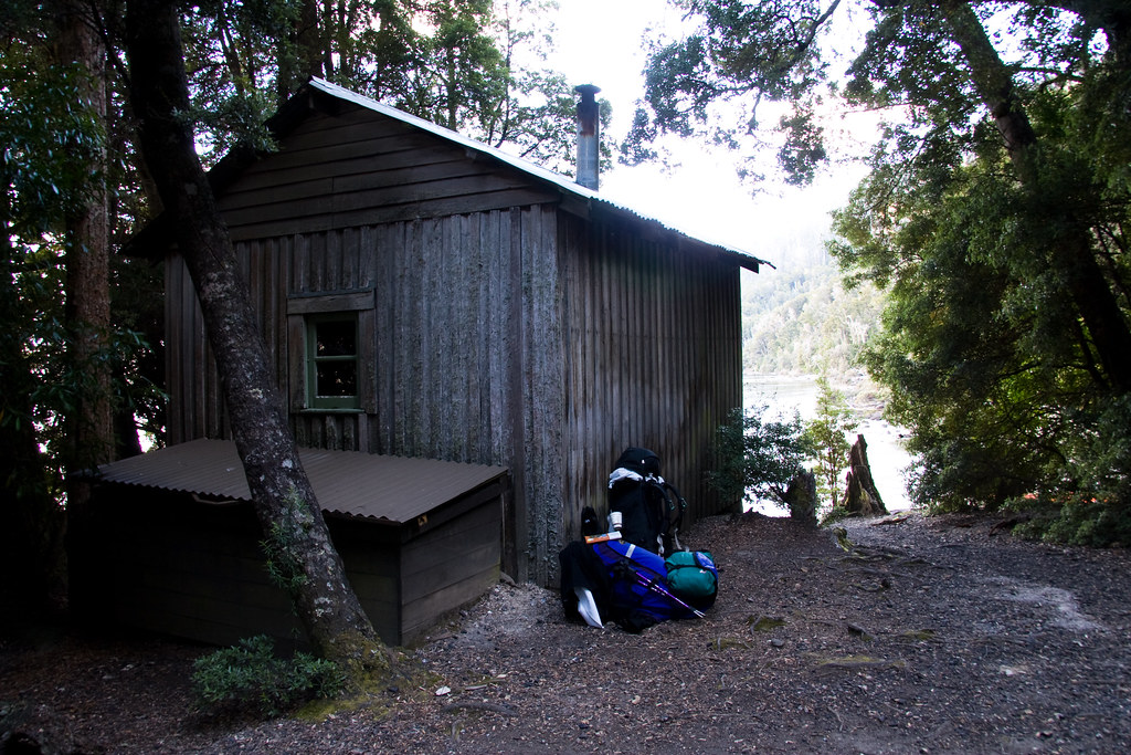 Echo Point Hut on Lake St Clair. One of the Overland Track huts that self-guided walkers can stay in.