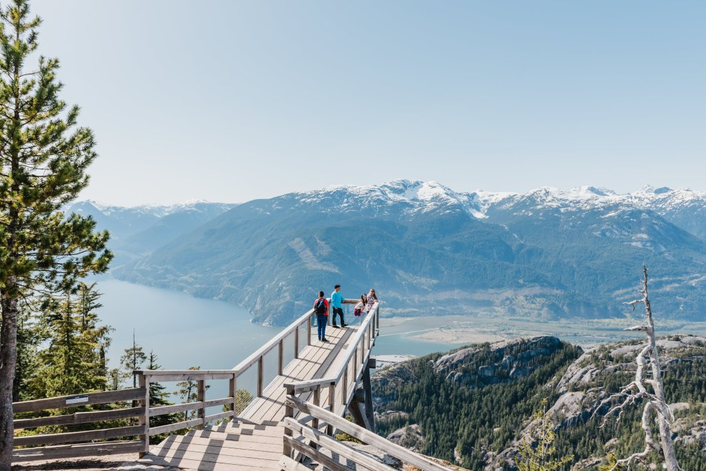 The view from the Sea to Sky Gondola in Squamish