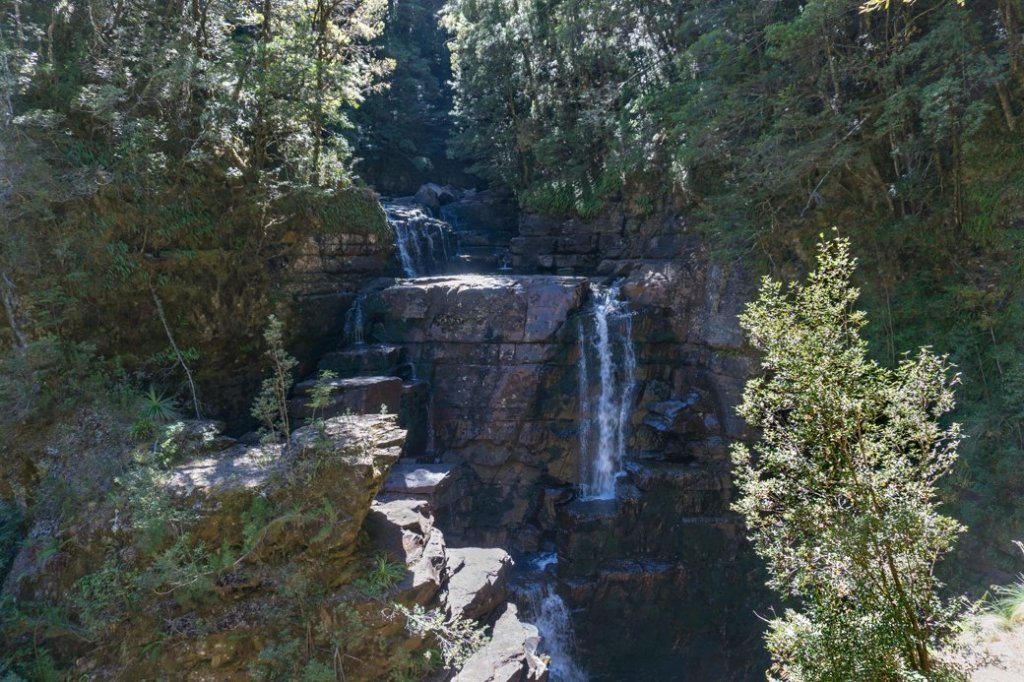 D'Alton Falls at low flow. It's a short walk from the Overland Track.
