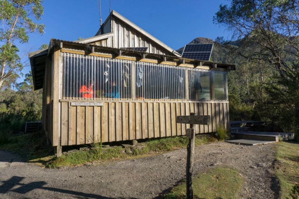 Kia Ora hut. One of the Overland Track huts that self-guided walkers can stay in.