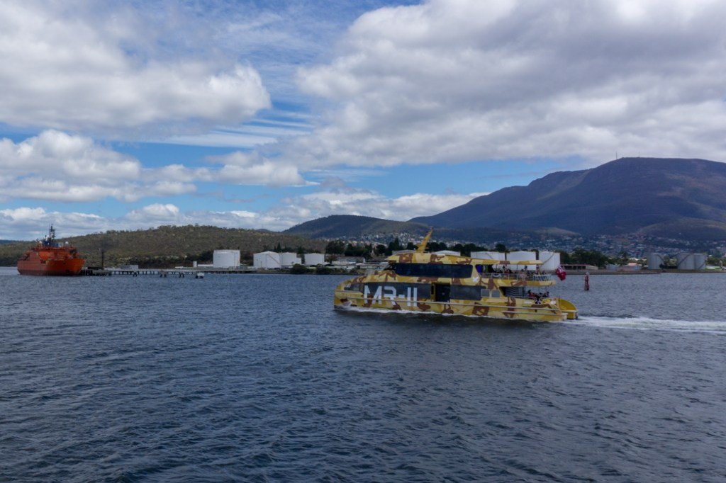 The MONA ferry in Hobart, Tasmania