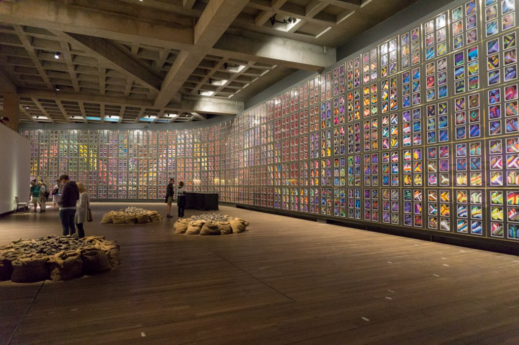 "The mural ""Snake"" by Sidney Nolan at MONA in Hobart, Tasmania"