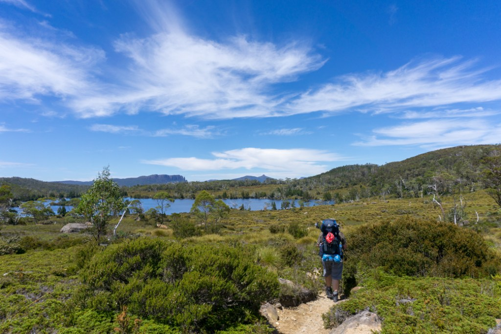 Lake Windermere on the second section of the Overland Track from Waterfall Valley to Windermere