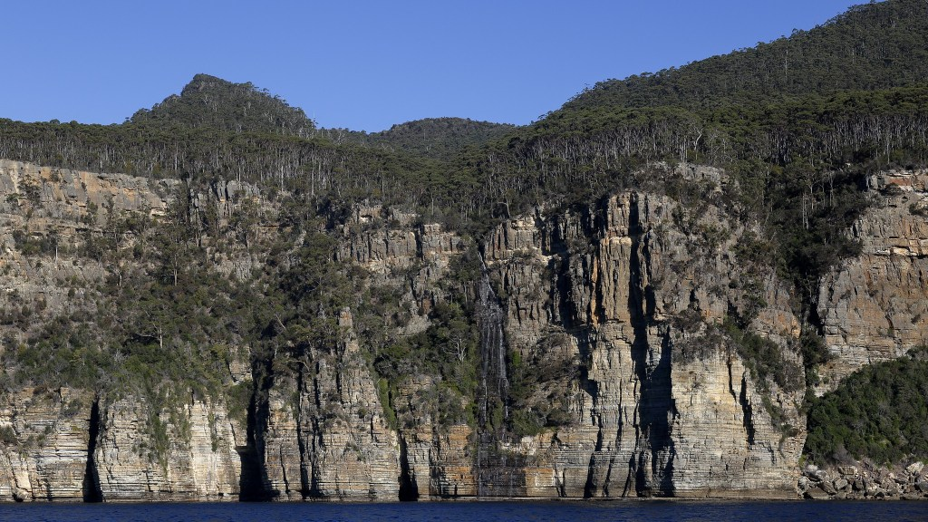 Waterfall Bay on the Tasman Peninsula in Tasmania, Australia