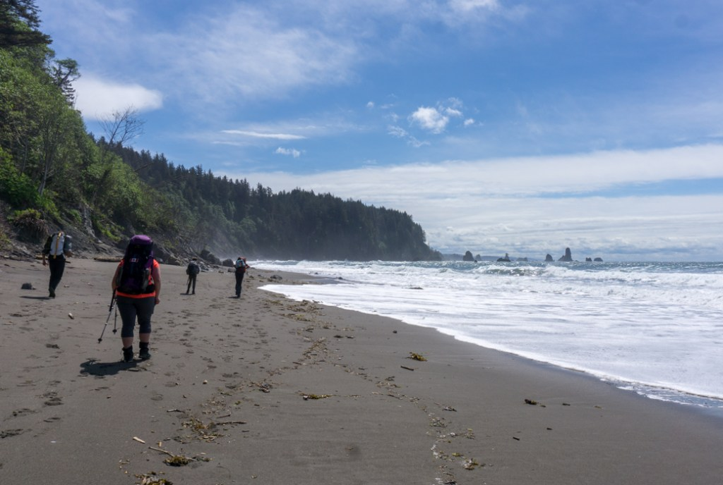 Hiking at Third Beach in Olympic National Park
