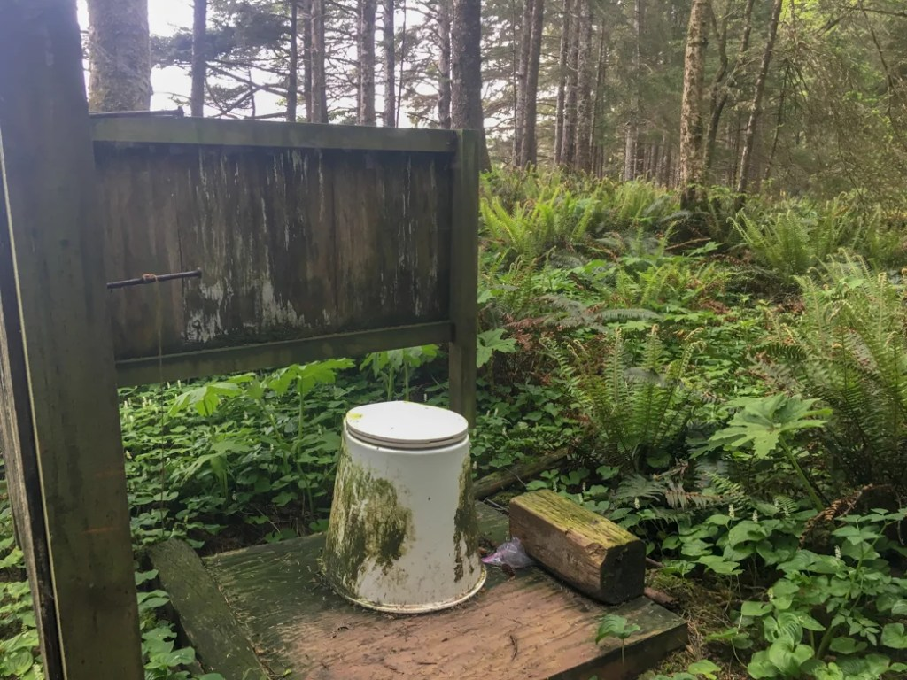 Toilet at Toleak Point, Olympic National Park