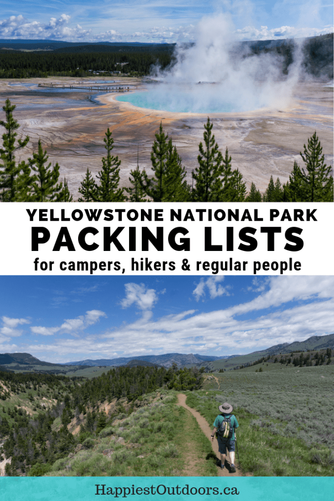 Yellowstone packing list: get super-detailed packing lists for Yellowstone. Includes what to pack for hiking, camping, picnicking and more. #Yellowstone #packinglist #YellowstoneNationalPark
