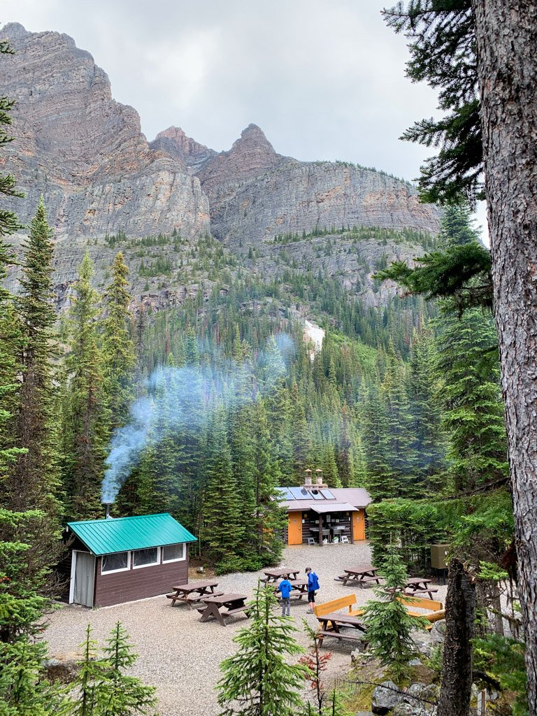 The campground at Lake O'Hara in Yoho National Park