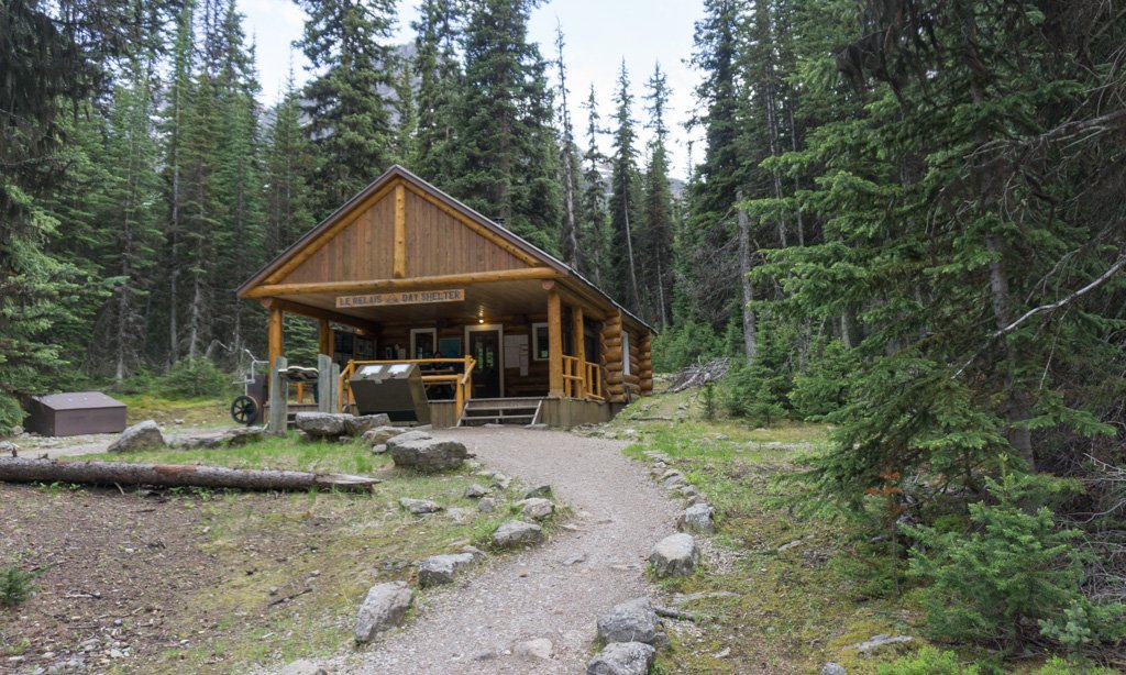 Le Relais day-use shelter at Lake O'Hara in Yoho National Park
