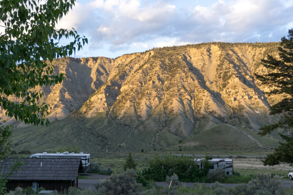Mammoth Campground in Yellowstone National Park