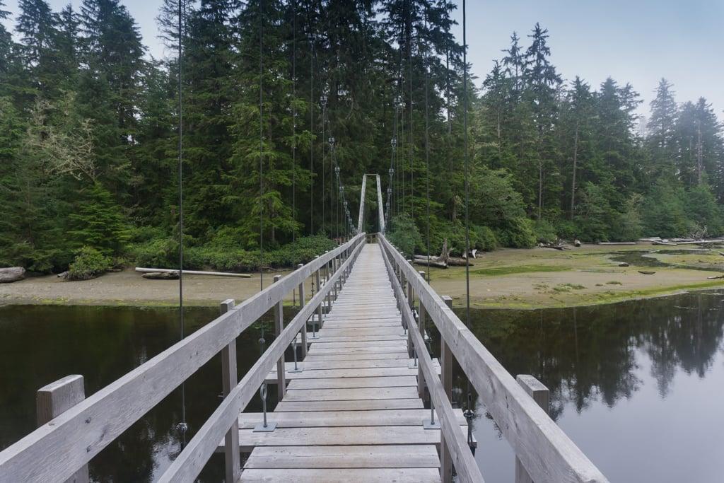 Cheewhat River bridge on the West Coast Trail