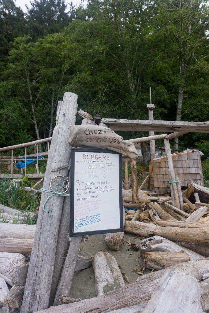 The remains of Chez Monique's on the West Coast Trail