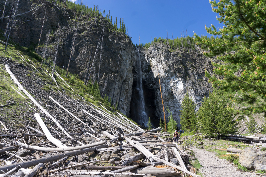 Fairy Falls in Yellowstone National Park