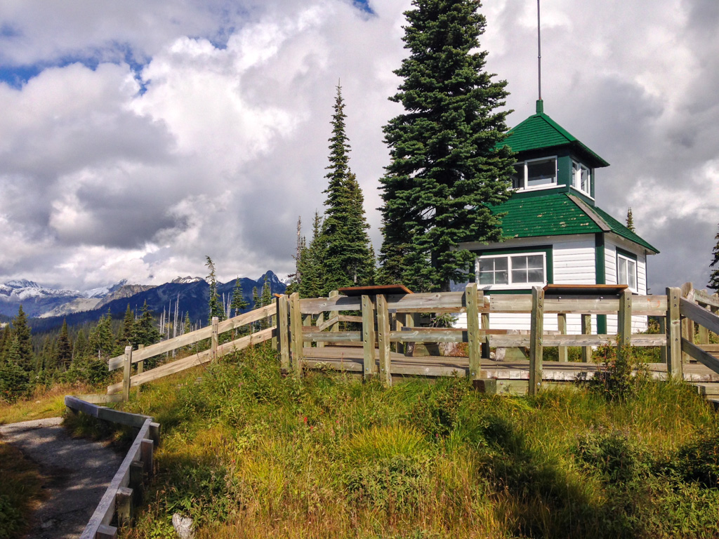 Historic fire lookout at Mount Revelstoke