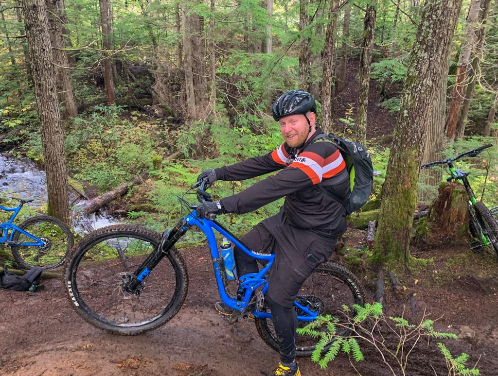 Mountain biking at Mount Macpherson near Revelstoke, BC