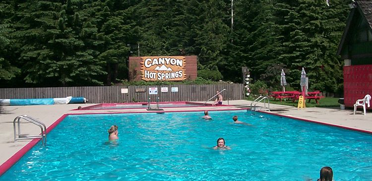 Canyon Hot Springs near Revelstoke, BC