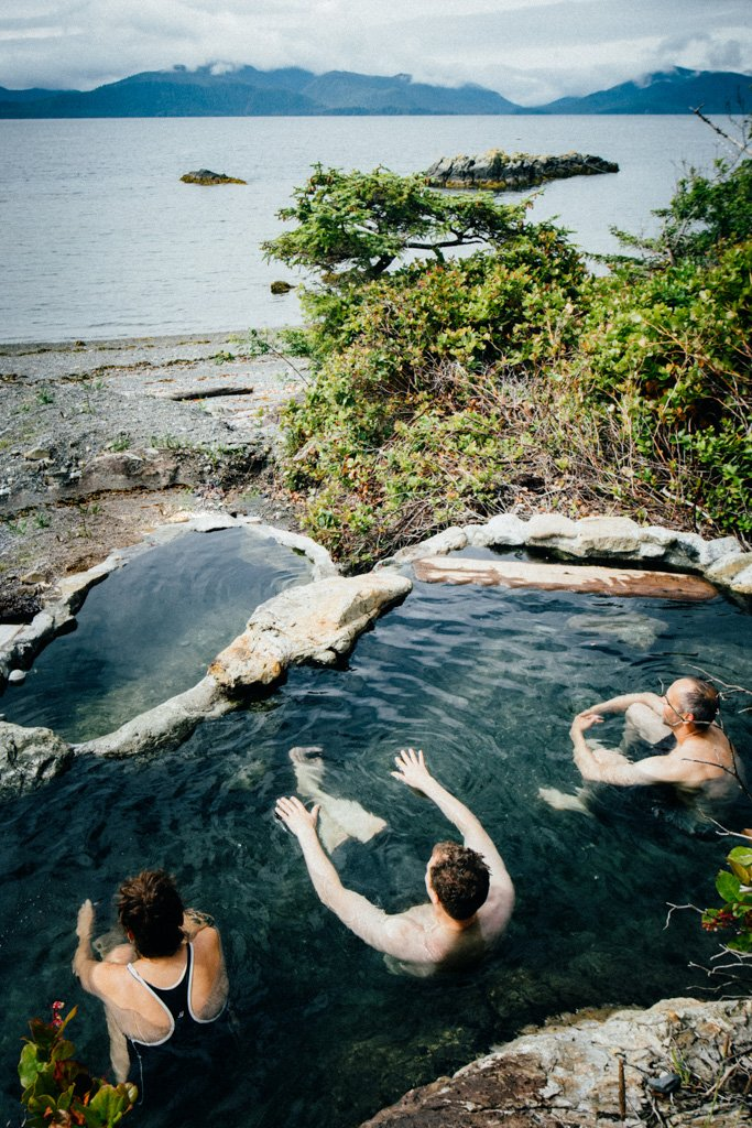 Hot spring pools at Hot Spring Island on Haida Gwaii in British Columbia, Canada