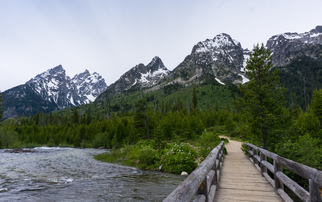 String Lake Bridge in Grand Teton National Park