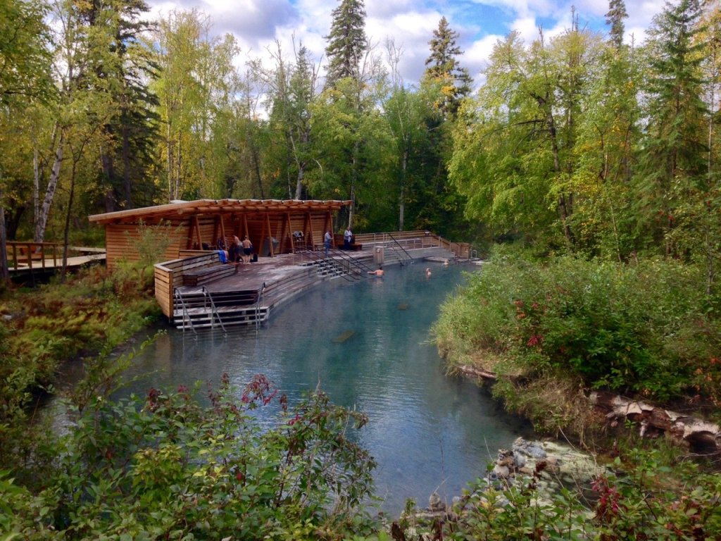 Liard River Hot Springs in northern BC