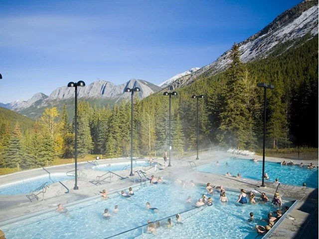 Miette Hot Springs in Jasper National Park, Alberta, Canada