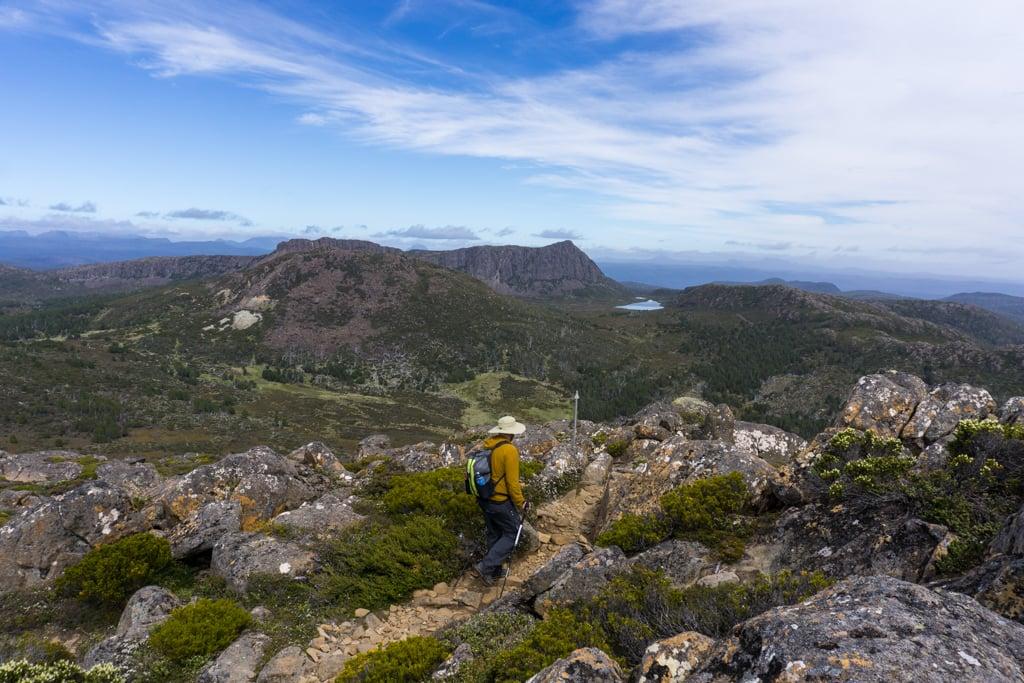 View from Mount Jerusalem in Tasmania, Australia
