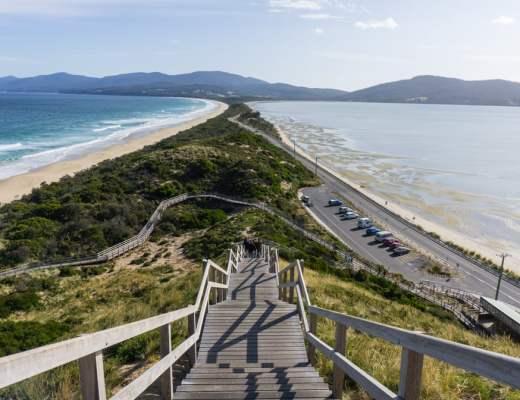 The Neck viewpoint on Bruny Island, Tasmania
