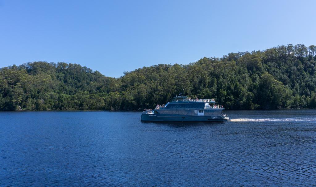 Gordon River cruise boat in Strahan, Tasmania