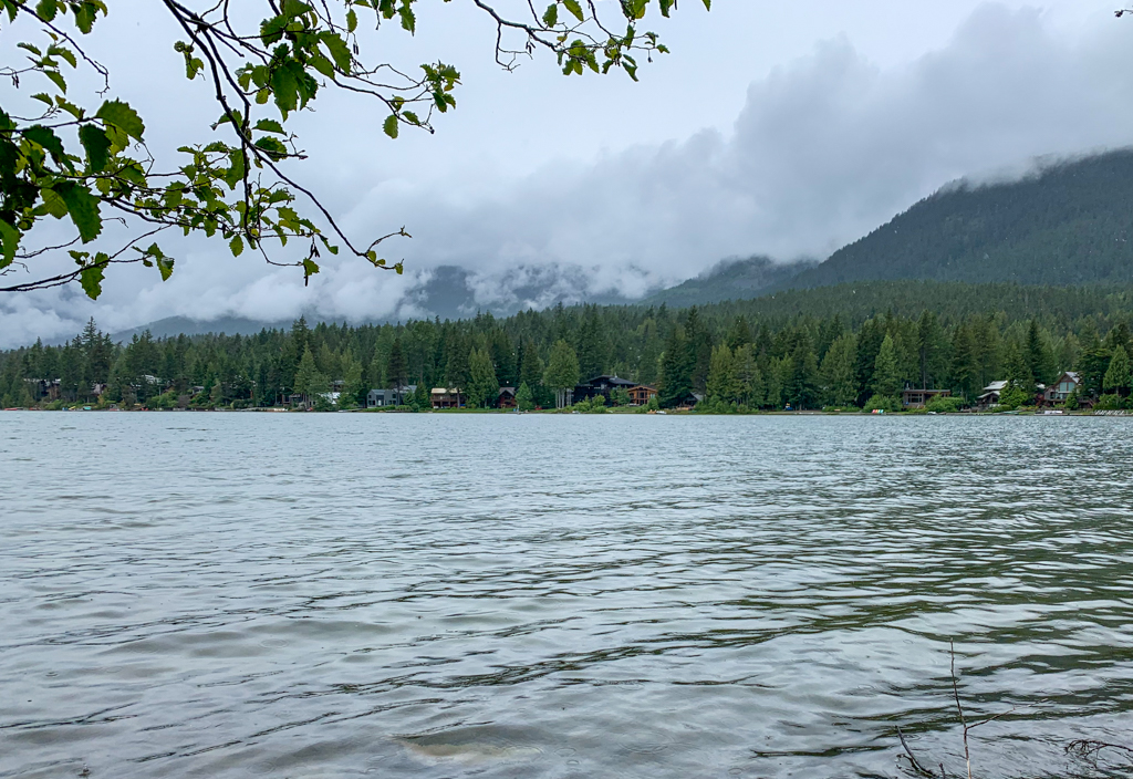 Looking across Green Lake in Whistler, BC