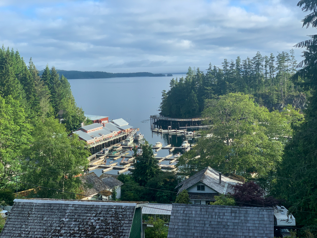View from the Telegraph Cove Resort in Telegraph Cove, BC