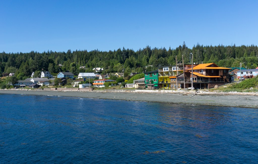 The waterfront at Sointula on Malcolm Island on north Vancouver Island