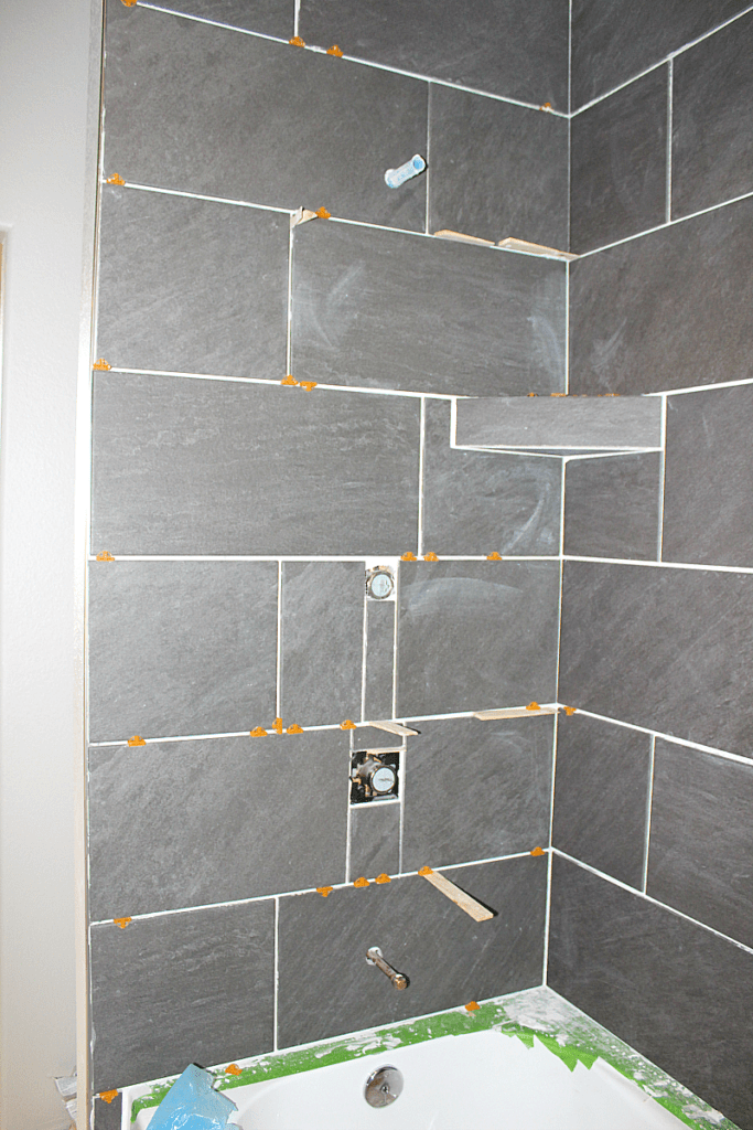 how to tile a shower surround