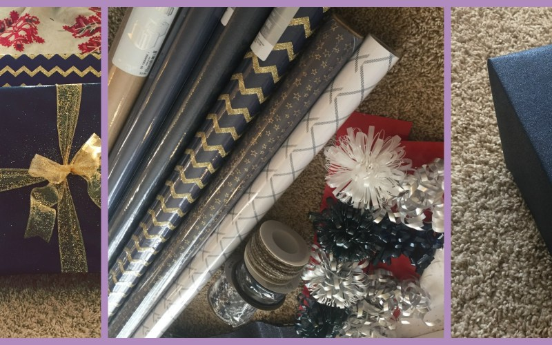 ORGANIZE HOLIDAY WRAPPING SUPPLIES