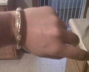 Emaille hearts bracelet camel