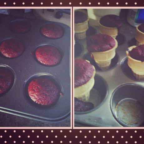 Red Velvet Cupcakes and Cones