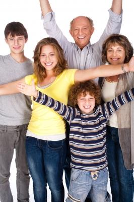 co parenting happy kids