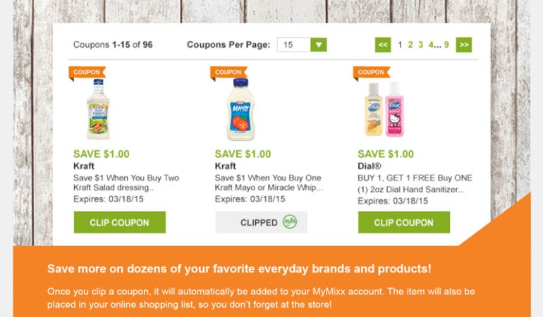 No More Clipping or Scanning Coupons with @Shaws and #MyMixx