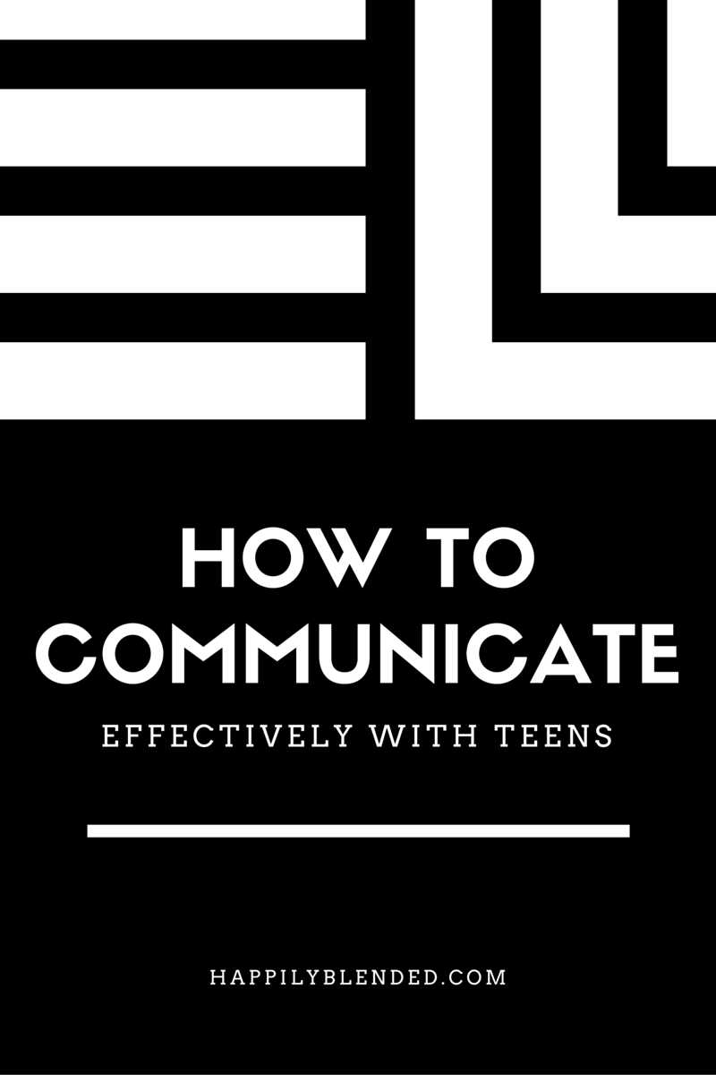 Happiy Blended How to Communicate Effectively with Teens