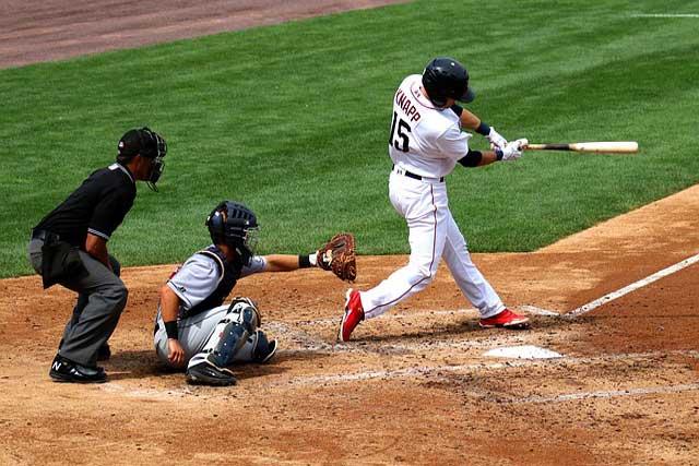 playing baseball