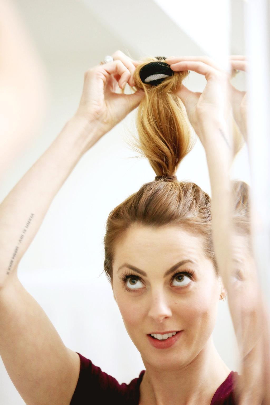 Hair Tutorial The Sock Bun Happily Eva After