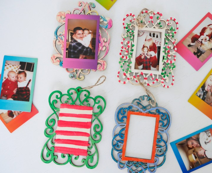 Eva Amurri martino crafts Holiday photo ornaments using the Instax mini 70 instant film camera