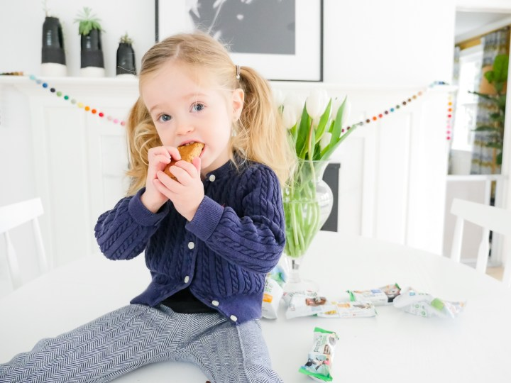 Marlowe Martino bites in to an organic snack bar