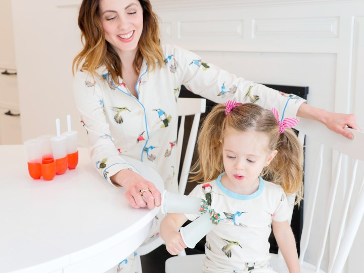 Eva Amurri Martino and Marlowe Martino share some ice cold Sparkle Pops