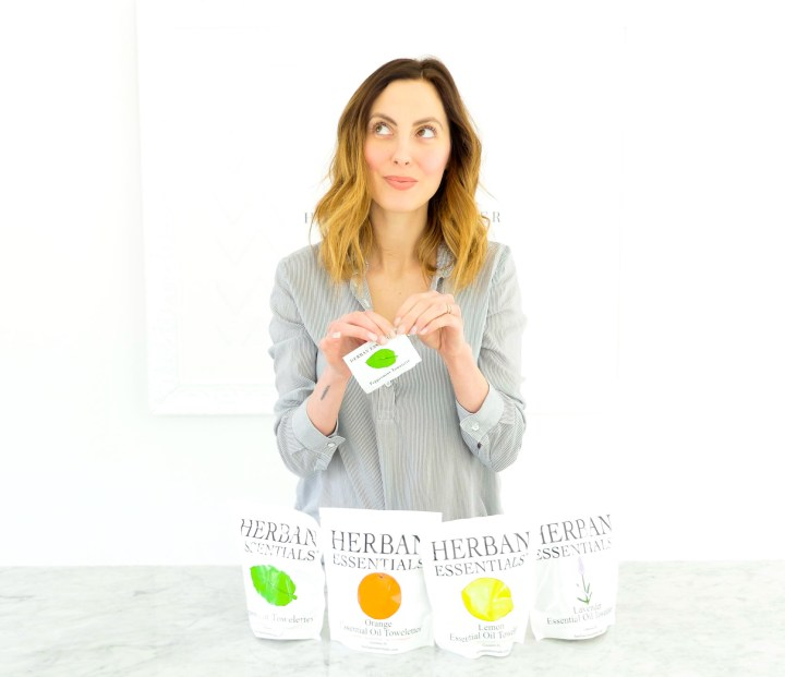 Eva Amurri Martino uses Herban Essentials towelettes