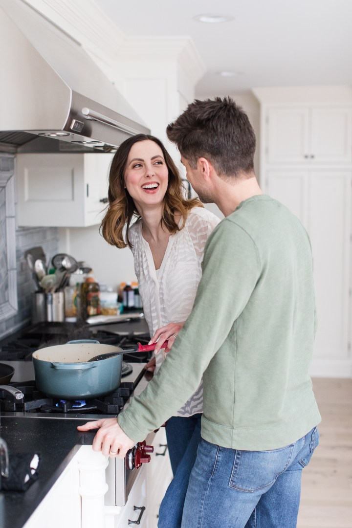 Eva Amurri Martino makes a stew in the kitchen of her Connecticut home