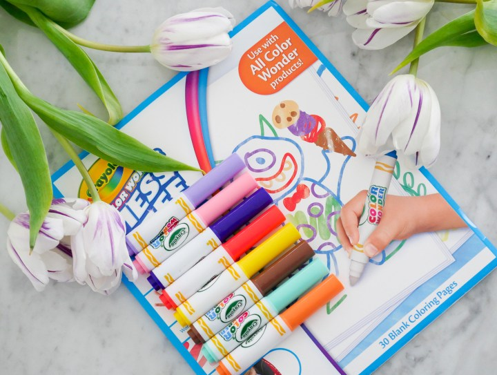 Eva Amurri Martino includes Crayola's Color Wonder markers and paper as part of her monthly obsessions feature