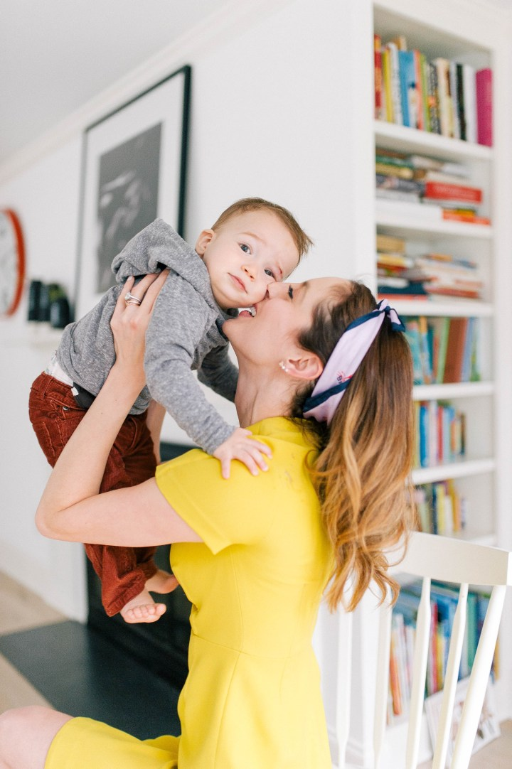 Eva Amurri Martino kisses son Major on his cheek