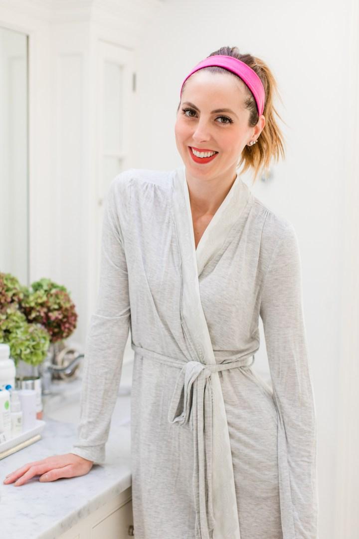 Eva Amurri Martino prepares to remove her makeup and proceed through her skincare routine