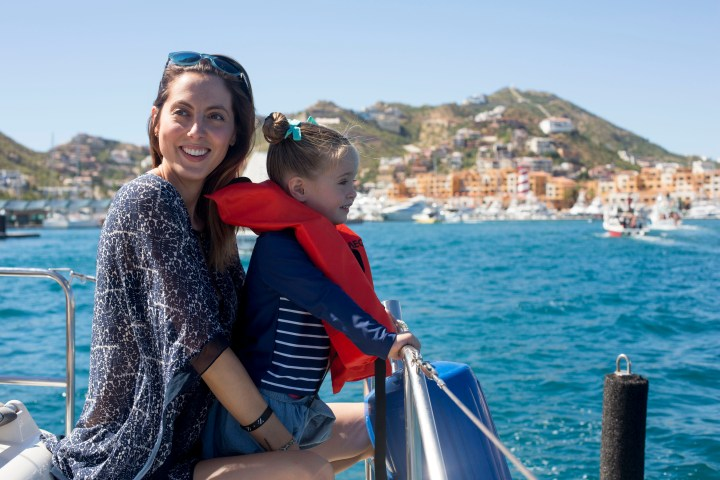 Eva Amurri Martino and three year old daughter, Marlowe, take in the sights on vacation in Mexico