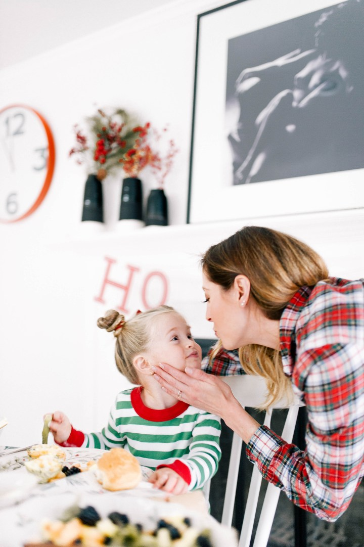 Eva Amurri Martino leans in to kiss three year old daughter, Marlowe