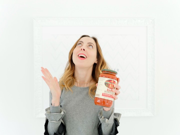 Eva Amurri Martino shares her love for Rao's pasta sauce as part of her monthly obsessions post